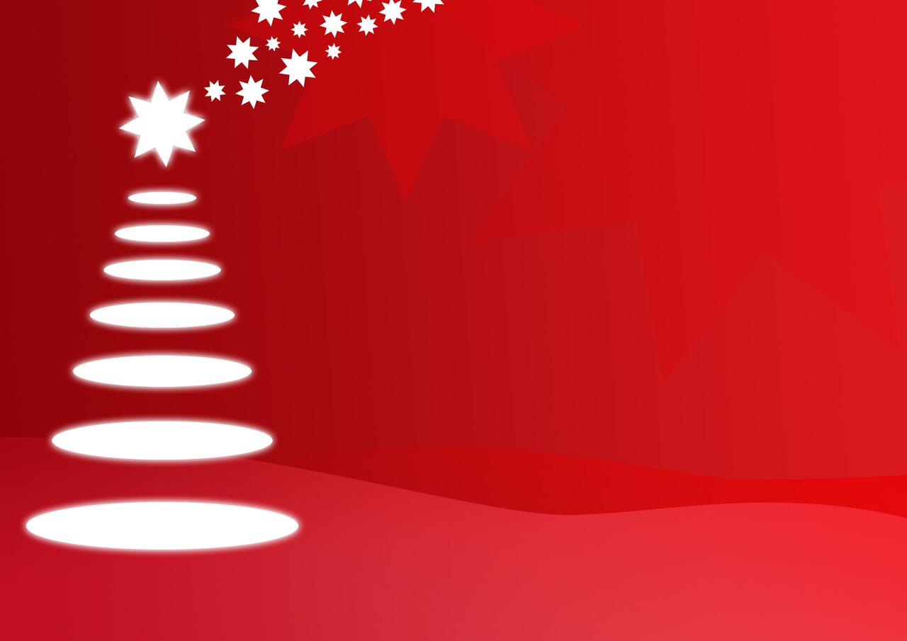 Red Cool Christmas Tree